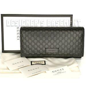 GUCCI black MICRO GUCCISSIMA Continental Wallet